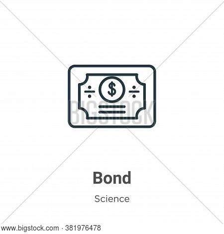 Bond icon isolated on white background from science collection. Bond icon trendy and modern Bond sym