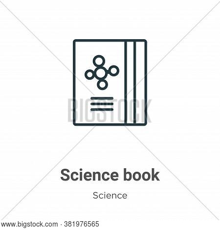 Science book icon isolated on white background from science collection. Science book icon trendy and