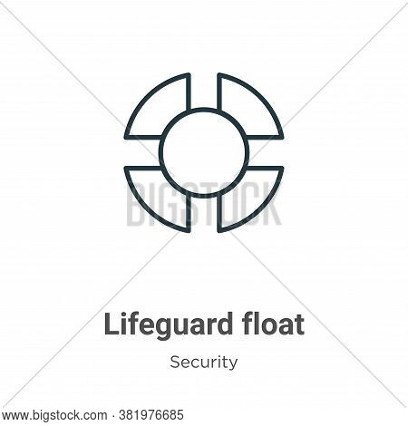 Lifeguard float icon isolated on white background from security collection. Lifeguard float icon tre