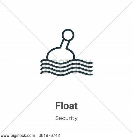 Float icon isolated on white background from security collection. Float icon trendy and modern Float