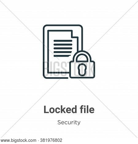 Locked file icon isolated on white background from security collection. Locked file icon trendy and