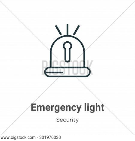 Emergency light icon isolated on white background from security collection. Emergency light icon tre