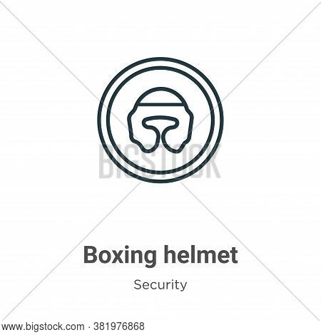 Boxing helmet icon isolated on white background from security collection. Boxing helmet icon trendy