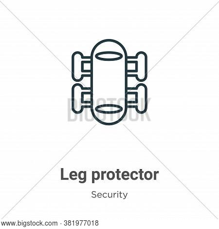 Leg protector icon isolated on white background from security collection. Leg protector icon trendy