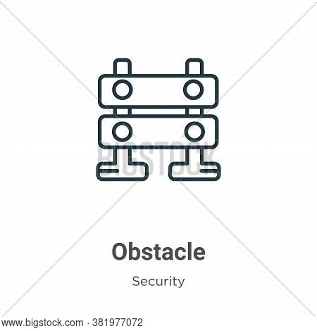 Obstacle icon isolated on white background from security collection. Obstacle icon trendy and modern