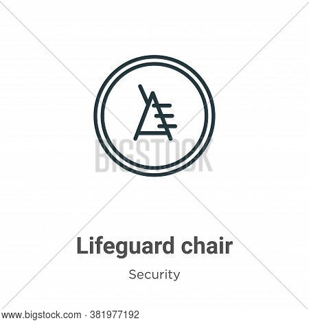 Lifeguard chair icon isolated on white background from security collection. Lifeguard chair icon tre