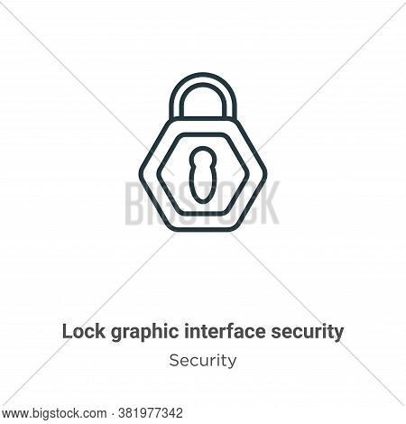 Lock graphic interface security symbol icon isolated on white background from security collection. L