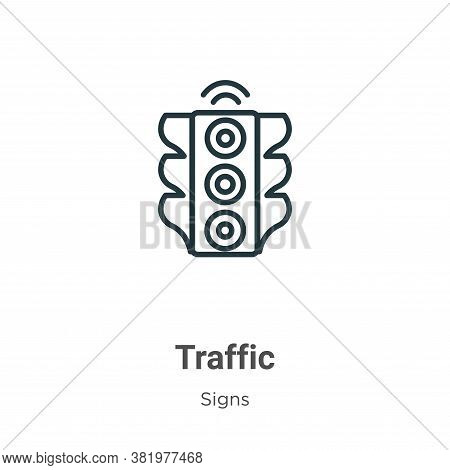 Traffic icon isolated on white background from signs collection. Traffic icon trendy and modern Traf