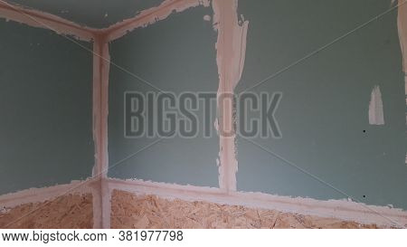 Plasterboard Filler Technology Before The Painting Finish, Coat, Indoors