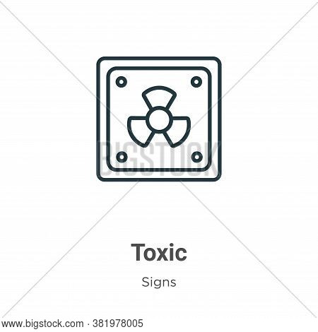 Toxic symbol icon isolated on white background from signs collection. Toxic symbol icon trendy and m