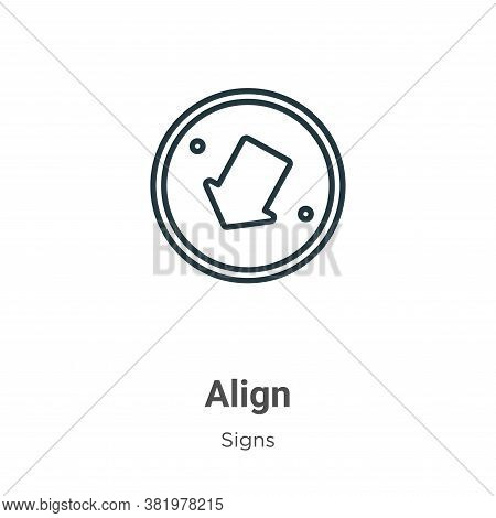 Align icon isolated on white background from signs collection. Align icon trendy and modern Align sy