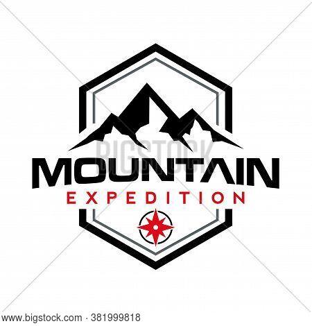 Mountain Logo, Peak, Mountain Expedition, Outdoor And Adventure Logo Vector