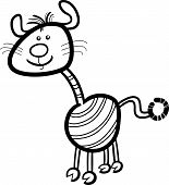 Cartoon Illustration of Funny Fantasy or Fairytale Character Creature for Coloring Book poster