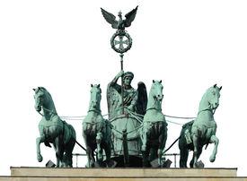 vier Pferd am Brandenburger Tor