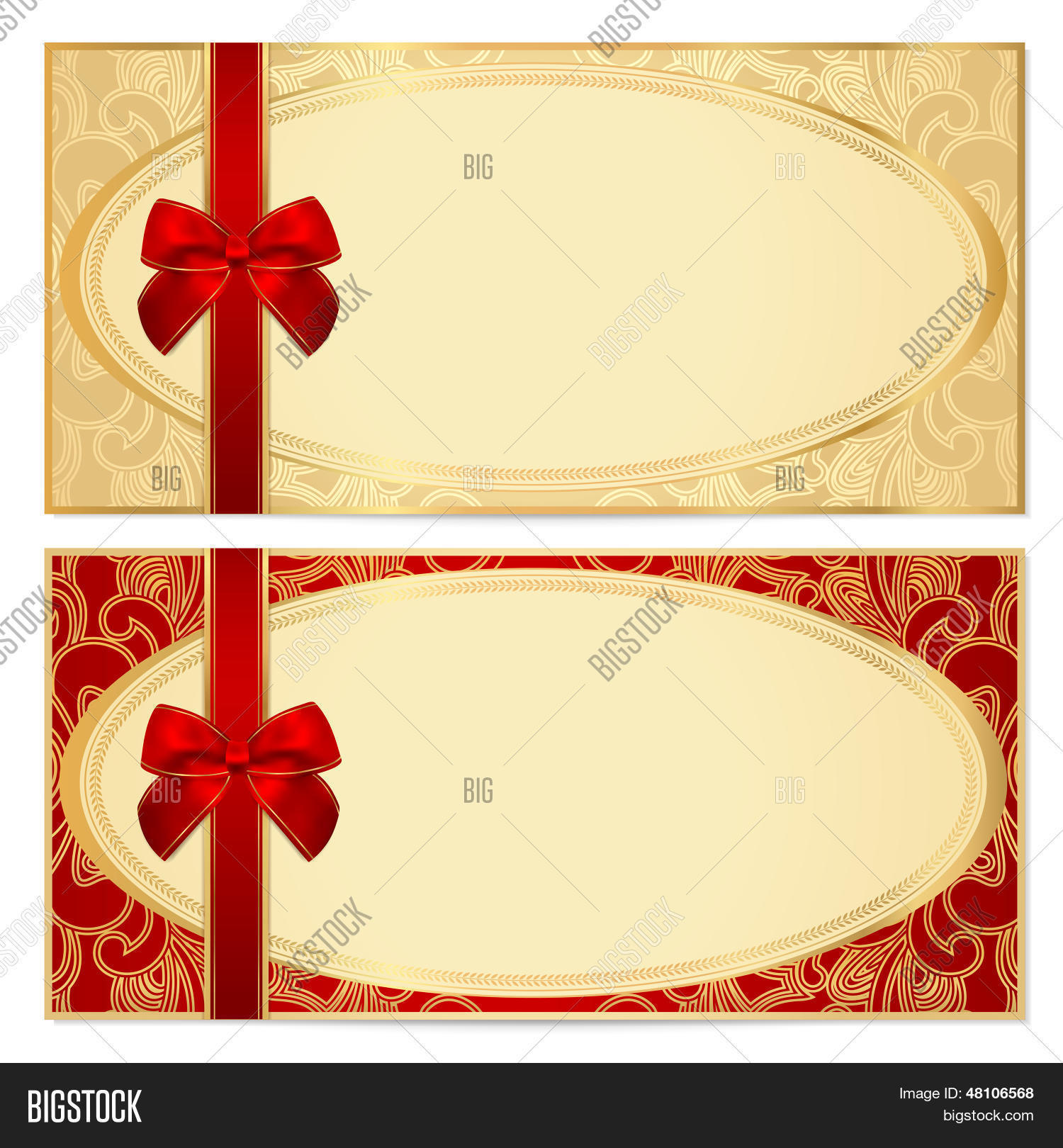 Voucher/ Gift Certificate / Coupon Vector & Photo | Bigstock