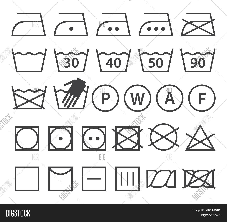 Set washing symbols laundry icons vector photo bigstock set of washing symbols laundry icons buycottarizona Gallery