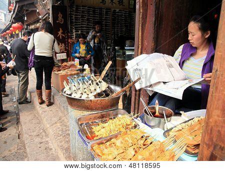 Chinese Street Food Vendor