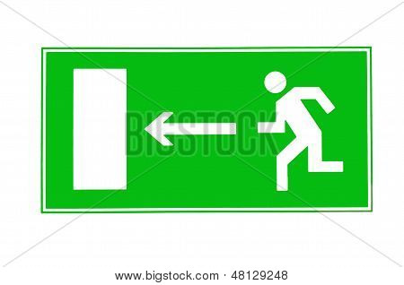 Direction Of Escape Sign