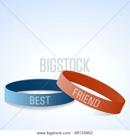 Friendship bands with text best friend.  poster