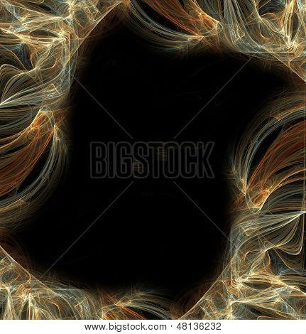 Abstract fractal frame  on black background