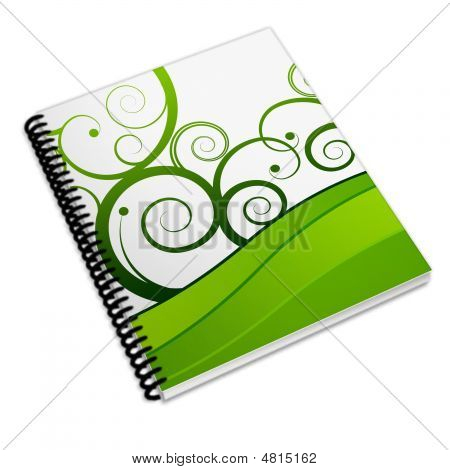Book Notebook generic on a white background poster