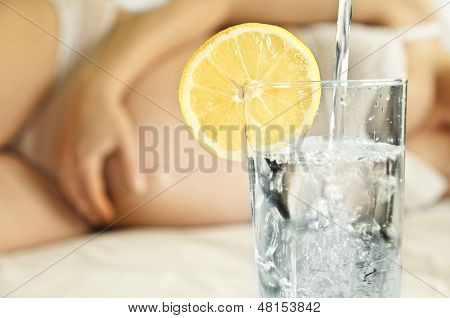 Glass Of Water For A Pregnant Woman