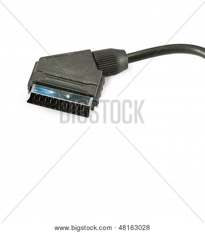 Scart Cable Isolated On White Background