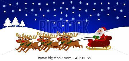 Santa In His Sledge