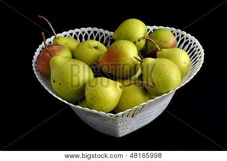 basket of pears