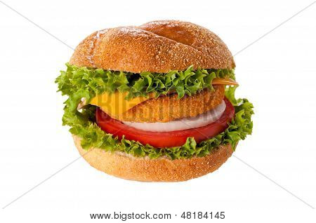 Fishburger Isolated