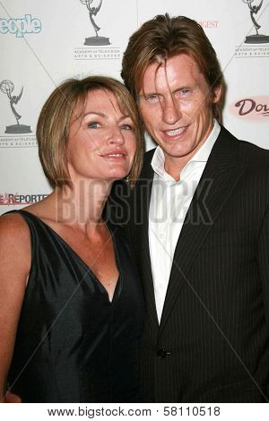 Ann Lembeck and Denis Leary at the 59th Annual Emmy Awards Nominee Reception. Pacific Design Center, Los Angeles, CA. 09-14-07