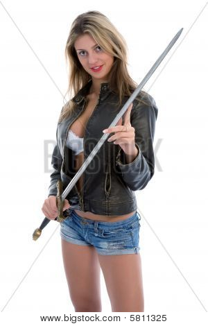 Sexy Girl With Sword