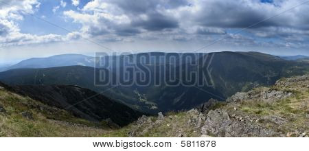 Panorama of The Krkonose Mts. National Park-Czech Republic/Europe poster