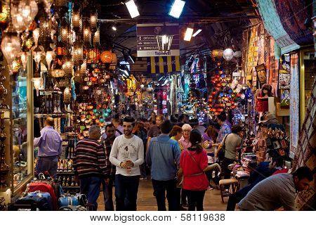 Grand Bazaar In Istanbiul, Turkey
