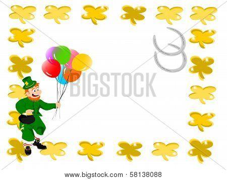 leprechaun balloons square clover