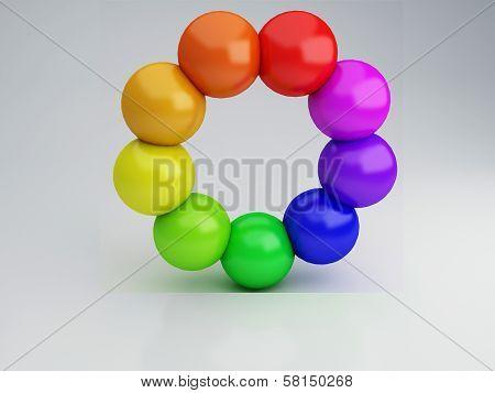 Color wheel, 3d Illustration