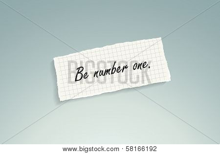Be Number One