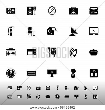 House Related Icons On White Background