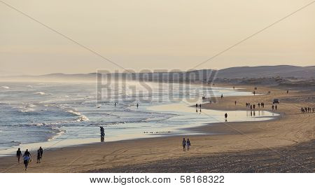 Stockton Beach Before Sunset. Port Stephens. Anna Bay. Australia.