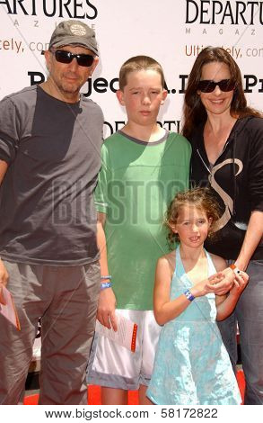 Richard Schiff with Sheila Kelley and their family  at the 6th Annual Project A.L.S. Los Angeles Benefit