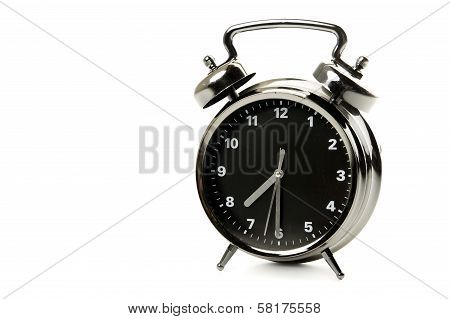Black And Silver Alarm Clock