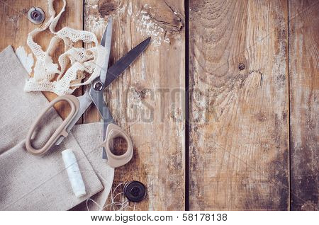 Rustic Sewing Background