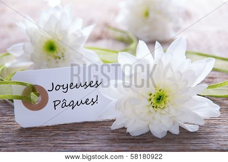 Label With Joyeuses Paques