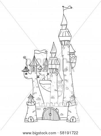 Sketchy Castle Vector Illustration