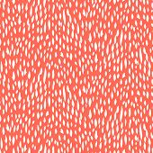 Small ditsy pattern with short hand drawn strokes in coral red color. Seamless texture in hipster style for web, print, fabric, textile, website, invitation card background, summer fall fashion, paper poster