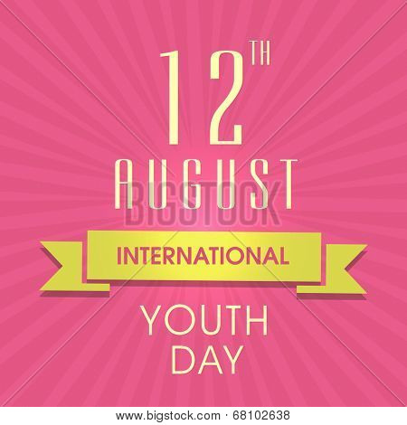 Stylish poster, banner or flyer design for international youth day.