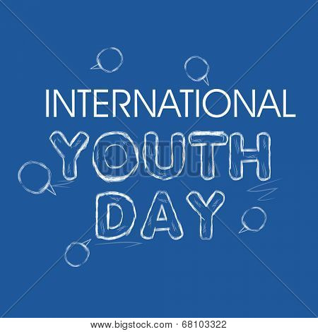 Poster, banner or flyer design for international youth day celebrations.