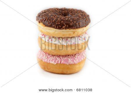 Sprinkled Donut On White Background