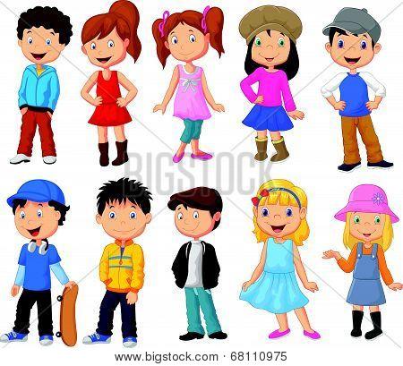 Cute children cartoon collection