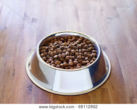 Dog Dry Food In The Bowl